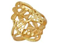 Anillo Diamantado Lindo Para Dama Estilo Floral Filigrana En Oro Amarillo De (OM#10086)