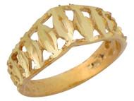 Anillo Fino Diamantado Para Dama En Forma De Corona En Oro Amarillo De (OM#10146)