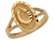 Anillo Diamantado En Forma De Ovalo De Herradura De Buana Suerte En Oro De (OM#10158)