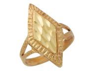 Anillo Diamantado Para Dama De Anillo En Forma De Diamante Rombo En Oro De (OM#10162)