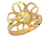 Anillo Diamantado Elegante Para Dama De Estilo Floral En Oro Amarillo De (OM#10167)