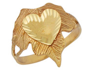 Anillo Lindo Diamantado De Moda Para Dama De Amigos Con Corazon En Oro De (OM#10175)