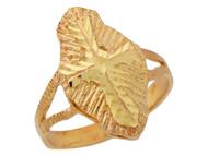 Anillo Religioso De Lujo Para Dama Con Cruz Latina Diamantada En Oro De (OM#10182)