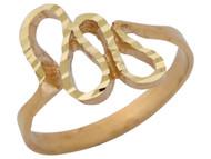 Anillo Moderno Diamantado En Estilo De Culebra Serpiente En Oro Amarillo De (OM#10411)