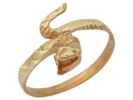 Anillo Diamantado En Estilo De Culebra Serpiente Con Boca Abierta En Oro De (OM#10413)