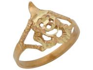 Anillo Lindo Chistoso Diamantado Con Payaso En Oro Amarillo De (OM#10424)