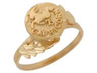 Anillo Hermoso Diamantado De Capricornio Signo Zodiaco De Astrologia En Oro (OM#10426)