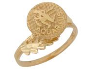 Anillo Hermoso Diamantado De Acuario Signo Zodiaco De Astrologia En Oro (OM#10427)