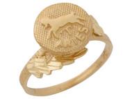 Anillo Hermoso Diamantado De Aries Signo Zodiaco De Astrologia En Oro (OM#10429)