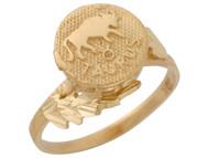 Anillo Hermoso Diamantado De Tauro Signo Zodiaco De Astrologia En Oro (OM#10430)