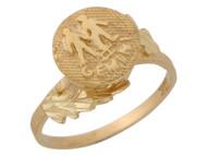 Anillo Hermoso Diamantado De Geminis Signo Zodiaco De Astrologia En Oro (OM#10431)