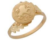 Anillo Hermoso Diamantado De Leo Signo Zodiaco De Astrologia En Oro (OM#10433)