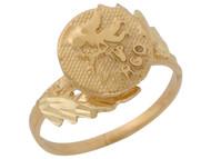 Anillo Hermoso Diamantado De Virgo Signo Zodiaco De Astrologia En Oro (OM#10434)