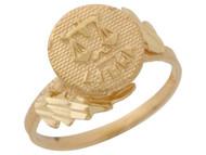 Anillo Hermoso Diamantado De Libra Signo Zodiaco De Astrologia En Oro (OM#10435)