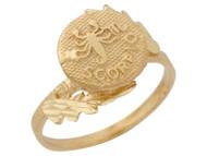Anillo Hermoso Diamantado De Escorpio Signo Zodiaco De Astrologia En Oro (OM#10436)