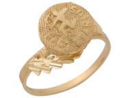 Anillo Hermoso Diamantado De Sagitario Signo Zodiaco De Astrologia En Oro (OM#10437)