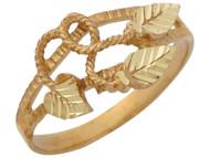 Anillo Diamantado Impresionante Para Dama Estilo Floral En Oro Amarillo De (OM#10519)