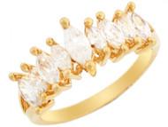 Anillo Bonito Con Circonita Marquise En Oro Amarillo De (OM#3198)