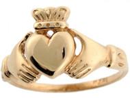 Anillo De Amistad Y Amor Irlandes Claddagh En Oro Amarillo Real De (OM#3596)