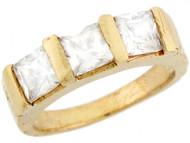 Anillo Moderno De Bebe Con Circonita Blanca En Oro Amarillo Real De (OM#5312)
