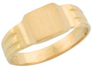Anillo Estilo Antiguo Cuadrado Para Bebe De Sello En Oro Amarillo De (OM#5344)