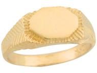 Anillo Contemporaneo De Sello Lindo De Lujo Para Nino En Oro Amarillo (OM#5358)