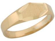 Anillo Degado Diamantado Lindo De Sello Para Bebe En Oro Amarillo De (OM#5369)