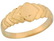 Anillo De Sello Lindo Para Bebe De Disenador En Forma De Diamante En Oro (OM#5524)