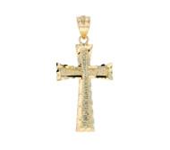 Colgante De Cruz De Lujo Diamantada En Oro Amarillo De (OM#11748)