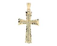 Colgante en estilo Cruz Diamantada En Oro Amarillo De (OM#11749)