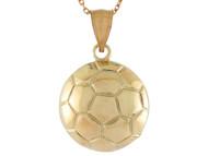 Colgante De Disenno Clasico De Pelota De Futbol Soccer Deportes En Oro (OM#10761)