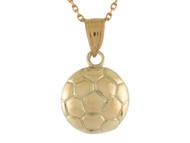 Colgante Pequeno De Disenno Clasico De Pelota De Futbol Soccer Deportes En Oro (OM#10764)