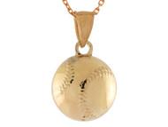 Colgante Pequeno De Disenno Clasico Pelota De Beisbol Baseball Deportes En Oro (OM#10765)