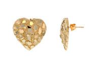Aretes En Forma de Corazon Diamantados Con Diseño De Pepita de de (OM#11997)