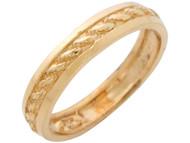 Anillo Para Dama Con Diseño De Cuerda Elegante En Oro Amarillo De (OM#10941)