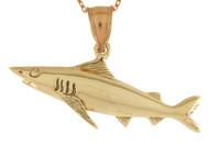 Colgante Deslumbrante Disenno De Tiburon Pescado Pesca Vida Marina De Mar En Oro (OM#10736)