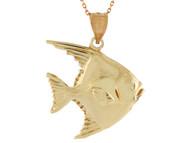 Colgante Hermoso Disenno De Pez Nadando Pesca Pescado Vida Marina En Oro (OM#10740)