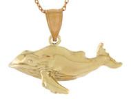 Colgante Magnifico Disenno De Ballena Vida Marina Pesca De Mar En Oro (OM#10741)