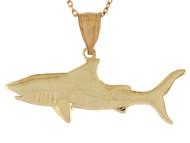 Colgante Deslumbrante Disenno De Tiburon Pescado Pesca Vida Marina En Oro (OM#10744)