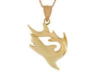 Colgante Chevere De Disenno De Tiburon Pez Pesca Vida Marina En Oro (OM#10748)