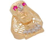 Anillo Diamantado Estilo De Reina Egypsia Nefertiti En De (OM#11027)