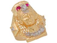 Anillo Diamantado Estilo de Reina Egypsia En De (OM#11026)