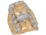 Anillo Ancho Religioso Para Hombre de Imagen de Jesus con Circonita En de (OM#11051)