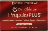 Buy Essential Formulas Propolis Plus 60 Caps Dr. Ohhira's Essential Formulas Online, UK Delivery, Stabilized Probiotics