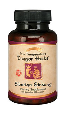 Buy Siberian Ginseng 500 mg 100 Veggie Caps Dragon Herbs Online, UK Delivery, Ginseng Immune Support Treatment