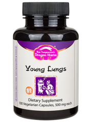 Buy Young Lungs 500 mg 100 Veggie Caps Dragon Herbs Online, UK Delivery, Lung Bronchial Formulas Remedy Relief Treatment Respiratory Support