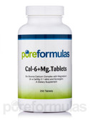 Cal-6 + Mg. 250 Tabs Pure Formulas, Bone Health