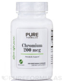 Chromium GTF 200 100 Vegetarian Caps, Pure Formulas, UK Shop