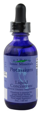 Buy Potassium Liquid Concentrate 2 oz (60 ml) Eidon Mineral Supplements Online, UK Delivery, Mineral Supplements