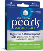Buy Probiotic Pearls Adult 50+ 30 sGels Enzymatic Therapy Online, UK Delivery, Probiotics Acidophilus Pearls